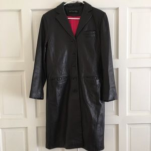 Kenneth Cole leather trench
